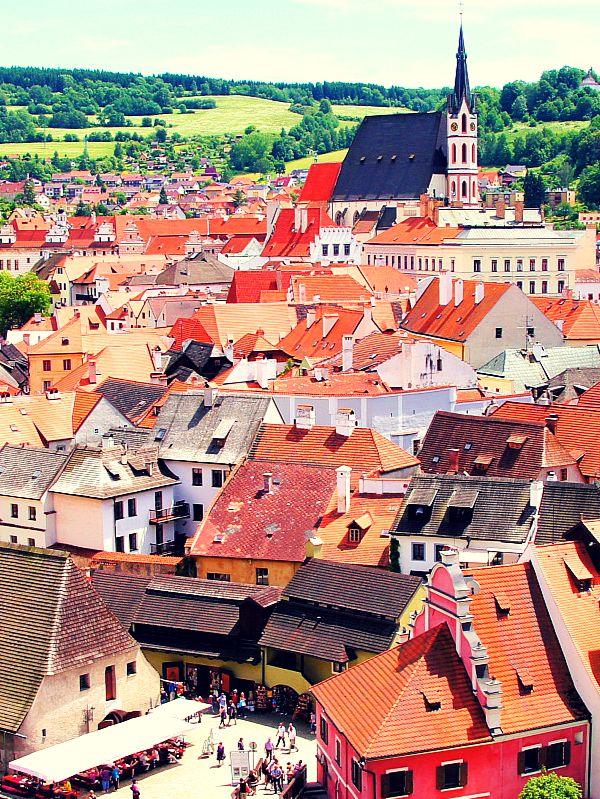 Výhled na město Český Krumlov