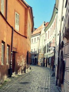 Dlouhá ulice Český Krumlov