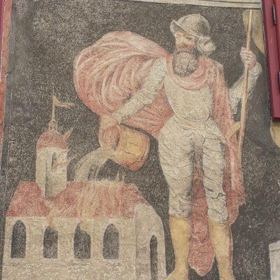 Sv. Florián na historické fresce